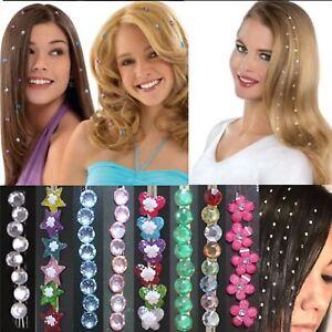 U.K  8 X Hair Bling Crystal Jewels Diamond Party Festival  Hair Gems Rhinestone