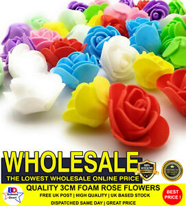 3 cm ROSE Foam Flowers Choice of Quality colours For All Occasions Craft DIY UK