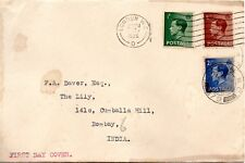 1936 Sg 457/59/60 Definitive First Day Cover Plain with Typewritten address