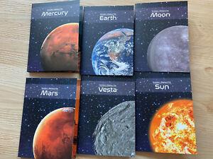 2016/17 Chad, GOLD Meteorite, Earth, Mars, Moon, Sun, Mercury, Vesta 3000 Francs