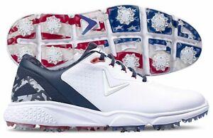 Callaway Coronado v2 Fairways for Warriors Red White Blue Golf Shoes Mens 10.5 D