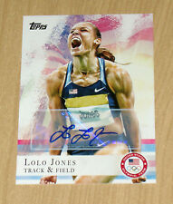 2012 Topps Olympics autograph Lolo Jones Track and Field