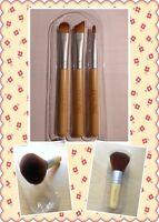 Fenling Quality Bamboo Large Make Up Kabuki Brush/Mini Brush Kit