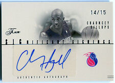 2004-05 Flair Significant Signings CHAUNCEY BILLUPS Auto Rare Silver SP #/15