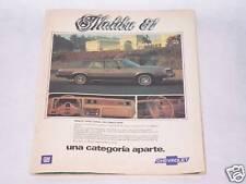 1981 CHEVY MALIBU ORIGINAL VINTAGE AD IN SPANISH