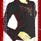 NEW Womens Turtleneck Sweater Embellished Top Bell Long Sleeve S/M/L Pink/Black