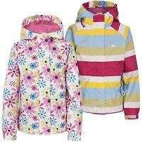 TRESPASS GIRLS WATERPROOF POPSTAR HOODED RAIN JACKET COAT KIDS CHILDS   3-12yrs