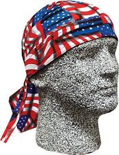 S Repeat USA American Patriotic Flag Headwrap Cap Sweatband Capsmith Biker Durag