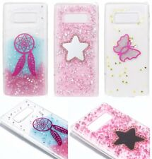 For Samsung Galaxy Note 8 - TPU Rubber Gummy Shiny Glitter Bling Skin Case Cover