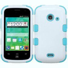 MyBat ZTE Z667 (prelude 2) TUFF Hybrid Phone Protector Cover Ivory/Teal/White
