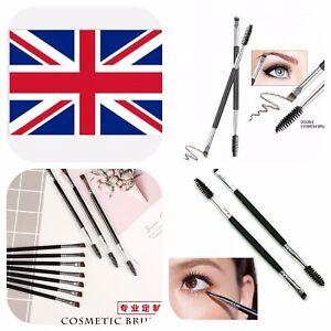 2X Shaping Duo Make up #12 Brush Angled Eye Brow &Makeup Brushes Uk🇬🇧 Seller