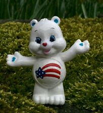 "CUSTOM Care Bear Collectible Mini Figure Blind Bag AMERICA CARES 2"" USA Pride  C"