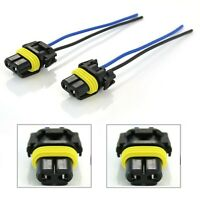 Wire Pigtail Female P 9006 HB4 Two Harness Fog Light Socket Adapter Lamp Bulb OE