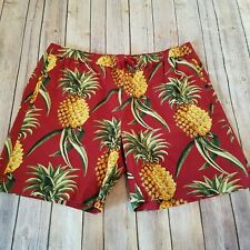 Topman NWOT Size XL Swim Trunks Shorts Pineapple Print Elastic Waist Pockets