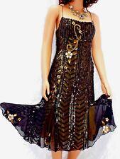 AFTER SIX Beautiful Vintage Silk Flapper Style Sequin/ Beaded Evening Dress sz 8