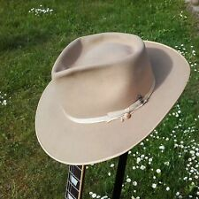 Vintage Stetson Twenty-Five Fedora Hat 7 1/4 Open Road Style Extra Wide Brim!