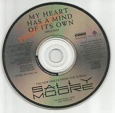 SALLY MOORE My heart has a mind of its own PROMO DJ CD single 1990 USA MINT