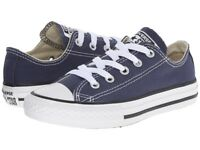 Converse All Star Low Navy Blue White For Kids Unisex Size 11 to 3 New In Box