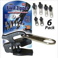 BD 6 Pack Fix A Zipper Zip Rescue Instant Repair Zipper Replacement