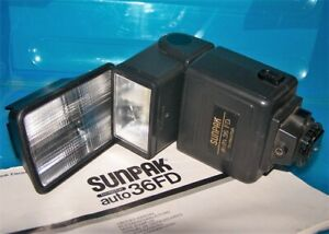 Sunpak Auto 36DXFlash For Pentax Cameras With  Tele attachment, and Manual