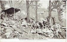 1 CPA GUERRE 1914 : BALLON DE GUEBWILLER Le barbier des poilus (Haut Rhin)