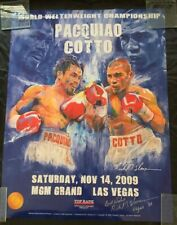 MANNY PACQUIAO MIGUEL COTTO POSTER SIGNED BY ARTIST RICHARD T. SLONE LTD ED 1500