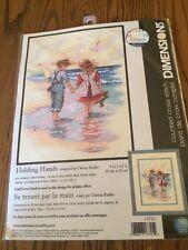 Cross Stitch Kit ~ Dimensions Little Boy & Girl Holding Hands Beach #13721