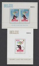 BELIZE 1979 OLYMPICS M/S (x2) MINT (ID:746/D43260)