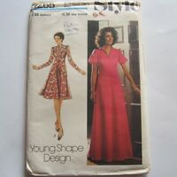 "Size 14 Vintage 1970s Sewing Pattern Style 1265 Ladies Dress Bust 36"" New"