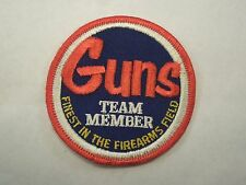 Vintage Guns Team Member Finest In The Firearms Field Iron On Patch