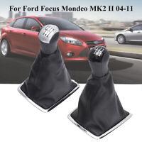 6 MARCHAS POMO PALANCA DE CAMBIOS VELOCIDAD + FUNDA For Ford Focus Mondeo  !