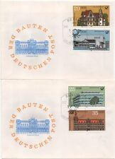 """2673/6 """"Bauten der Deutschen Post"""" FDC"""