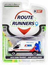 1:64 GreenLight 2019 Ford Transit Van Route Runners 3 AMR Ambulance