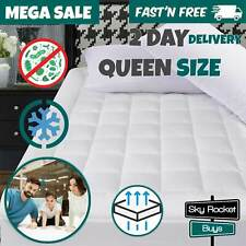 Queen Size Mattress Cover Pad Pillow Top Protector Snow Down Soft Bed Topper