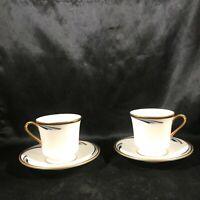 Pair of GORHAM China Dynasty REGENCY Demitasse Tea Cups Saucers