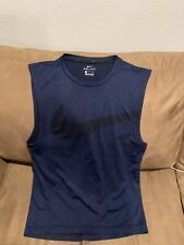 Nike Dri-Fit Swoosh Fitted Athletic sleeveless Men's Shirt Size Small