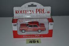 Poland Kolekcja PRLu Polski Fiat 125P Straż Fire Brigade 1:43 Red Diecast Model