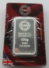 100 g Precious Metal Content per Unit Silver Bullion Bars