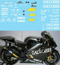 1/12 VALENTINO ROSSI TEST BIKE YAMAHA M1 2004 GAULOISES DECALS TB DECAL TBD95