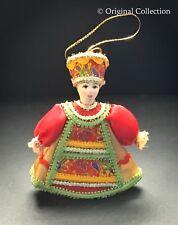 Christmas Ornament Beautiful Russian Doll NEW Handmade Hand painted Angel #824
