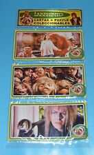 LABYRINTH MOVIE David Bowie SET 3 METAL CARDS PUZZLE COLLECTIBLE ARGENTINA 1