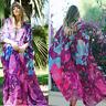 Women Summer Coat Boho Beach Cover Up Lace Floral Cardigan Kimono Chiffon Blouse