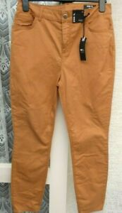 "( Ref 6285 ) TU - Size 14R W 34"" - Tan / Brown Skinny Cotton Trousers BNWT"