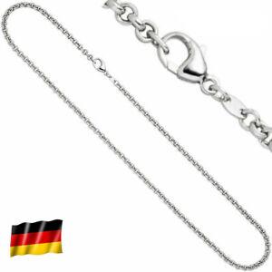 3,4 mm Goldkette 585 echt Weißgold 45 cm Rundankerkette Halskette 14 Karat neu