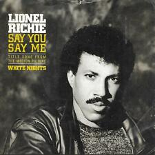 "Lionel Richie Say You, Say Me White Nights yellow writing  UK 45 7"" Motown"