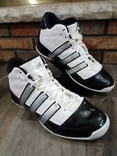 ADIDAS Pro Model Torsion System White Basketball Shoes Patent Leather Mens 11.5
