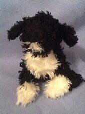 "Ganz Webkinz Black & White 7"" PORTUGUESE WATER DOG Curly Hair Plush HM439"