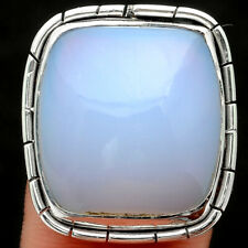 Natural Chalcedony 925 Sterling Silver Ring s.9 Jewelry 6516