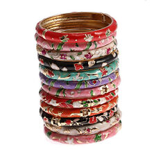 Wholesale 12pcs butterfly flower Enamel Cloisonne Bangle Bracelet women lady