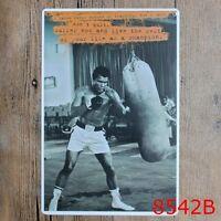 Metal Tin Sign Muhammad Ali-Haj Bar Pub Vintage Retro Poster Cafe ART
